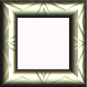 Metallic Frame 2: An ornamental metallic frame in pewter. Shape can easily be changed from square to rectangular. Hi-res image.