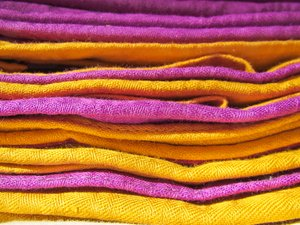 purple and yellow clothes
