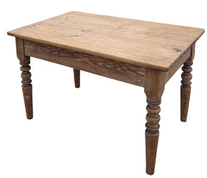 Table: A wooden table