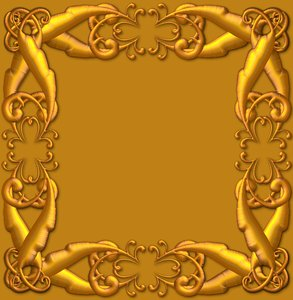 Golden Ornate Border