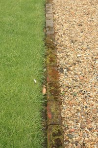 Edge of a grass lawn: Edge of a grass lawn