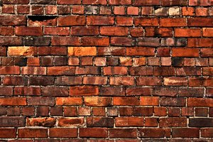 Brick Wall: An ancient brick wall shot using HDR.