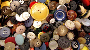 mixed buttons2: a variety of different sized, shaped and coloured buttons