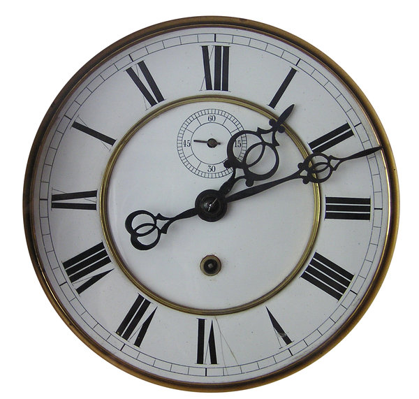 Face of time: A clock's face.