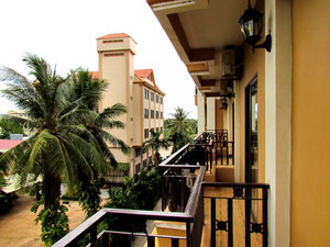 balcony views1: looking along hotel balconies