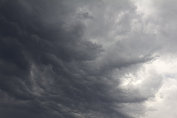 Storm clouds: An imminent summer storm in England.