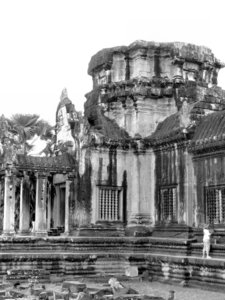 Angkor Wat stonework7: artistic carvings and stonework at Cambodia's Angkor Wat temple complex