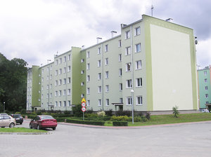A block in Modlin: A block of flats in Modlin, Poland.
