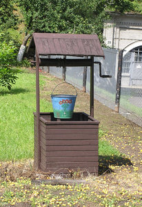 The well: The well and the bucket in Modlin, Poland.