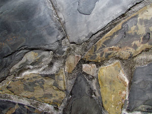 rock textured surface2: cracks, fissures and colours garden wall rock-face