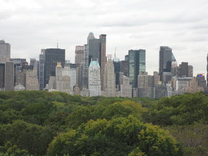 New York  skyline: New York skyline over Central Park