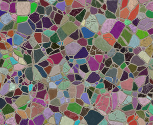 Mosaic Texture 1: A multicoloured mosaic texture, background or fill.