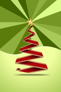 Origami Christmas Tree 2D