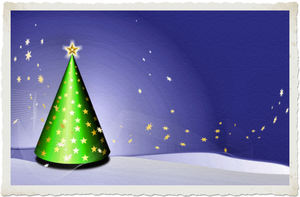 Christmas postcard: Christmas postcard in 2 color versions
