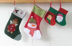 Christmas stockings: Christmas stockings  waiting for Santa