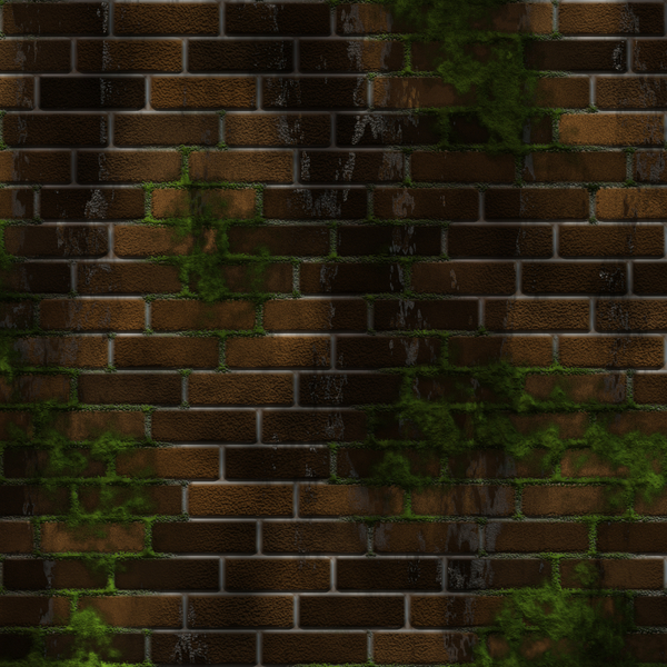 Wall in Shadows: A brick wall with damp and moss and shadows. Very high resolution. Not for redistribution. You may prefer: http://www.rgbstock.com/photo/nN2ggxa/Graphic+Bricks+2