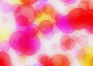 Bokeh or Blurred Lights 10: Bokeh, or blurred background lights in pink, red, yellow, purple and white. Suitable for a background, Christmas greetings, holiday greetings, texture, or fill.