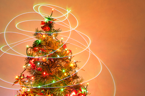 Christmas Tree 11: Photo of christmas tree with light painting