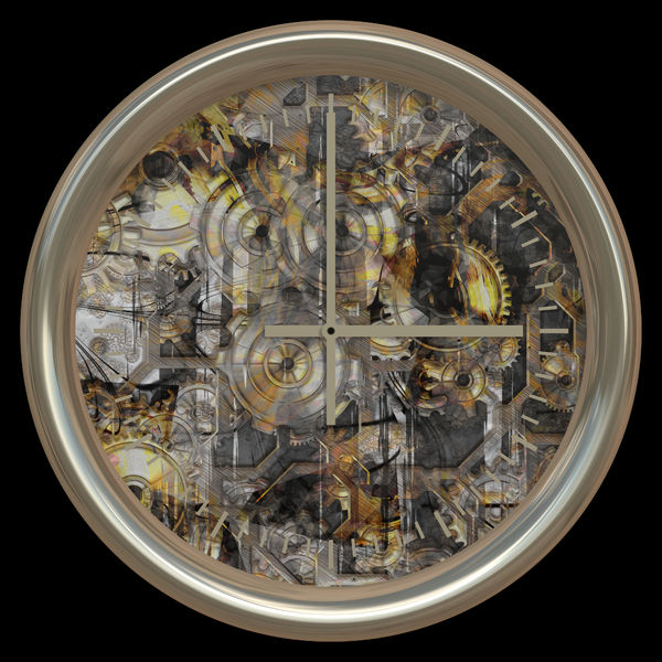 Fantasy Clock 1: An abstract fantasy clock with the inner workings visible. Very high resolution. You may prefer: http://www.rgbstock.com/photo/noCGNTk/Clockwork