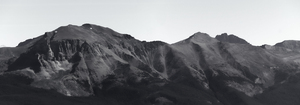 Mountain range B/W