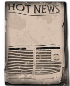 Hot news: Newspaper in two editions. Put your hot news into the empty area.
