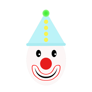 Happy clown graphic