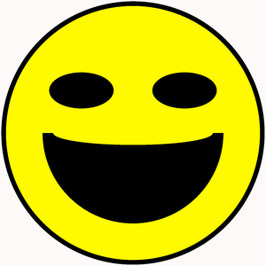 Smiley Face 4: Classic smiley face symbol. Great for emoticons, icons, illustrations, buttons, etc.