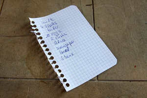 Shopping list: List for the next shopping