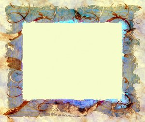 Wild Frame or Border 3: A grungy, decorative frame or border with swirling vines and branches (from a public domain image). You may prefer this: http://www.rgbstock.com/photo/nUjacjK/Grungy+Border+2