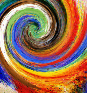 Colours Twirl: A twirl of abstract colours.