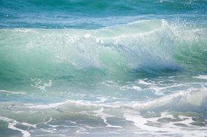 Ocean Waves: Surfing waves off the Southern Florida Coast,