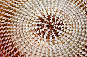 Basket weave: An evenly wove african basket created from scratch by one of the best African American basket weavers in the United States. In the American South