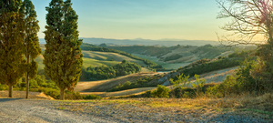 Rolling Hills - Tuscany: View over the rolling Hills of Crete Senesi - Tuscany
