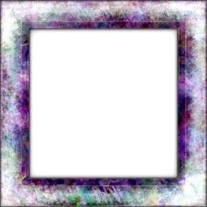 Collage Frame 4: A square 3d frame with a grunge design. You may ...