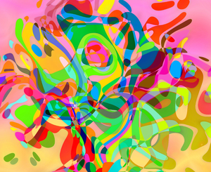 Retro Abstract Pattern 3: A multi-coloured wild retro backgound. Eyecatching rainbow colours are great for use in flyers and advertisements, covers, fills, backgrounds and textures. See FAQ for the ways you are allowed to use these images.