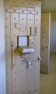 solid door security1: security doors in former prison
