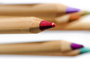 Coloring pencils: Wooden coloring pencils.