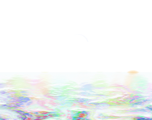 Rainbow Patterned Border 4: A patterned border in pastel rainbow colours. Bright and eyecatching. Could also represent reflections in water.