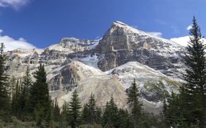 Mountain view: The Rocky Mountains near Lake Louise, Canada.