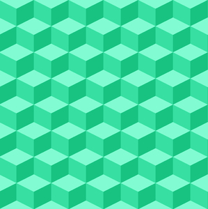 Tumbling Blocks 3: Seamless tumbling blocks background.  Optical illusion illustration.