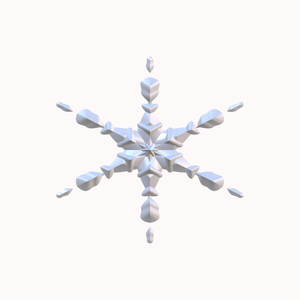 Isolated Snowflake 2: An isolated snowflake on a white background.