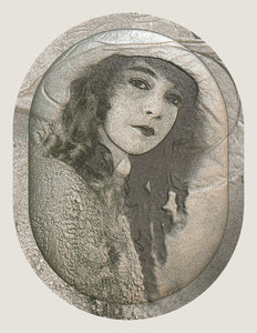 Victorian Girl 4: Variation on a public domain image of a Victorian beauty. 3d textured cameo effect.