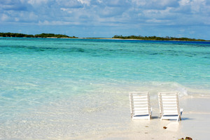 Chair at Beach 1: Chair at beach - los Roques