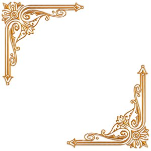 Golden Ornate Border 15