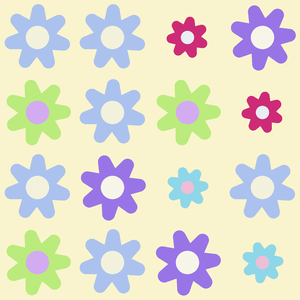 Pretty Graphic Flowers 1