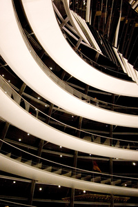 Reichstag Dome, Berlin: A detail of the stairs of the dome.