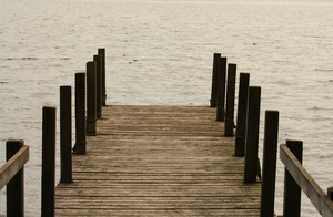 Jetty: A pier or jetty on a dull day