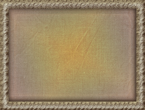 frame on faded fabric