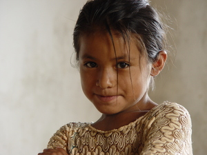 Indian girl: A beautiful qeqchi indian girl from Carcha, Guatemala