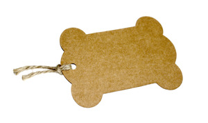 Paper Tag: A brown paper tag
